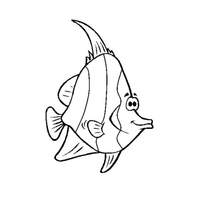 Coloriage et dessins gratuits Poisson comique animé à imprimer