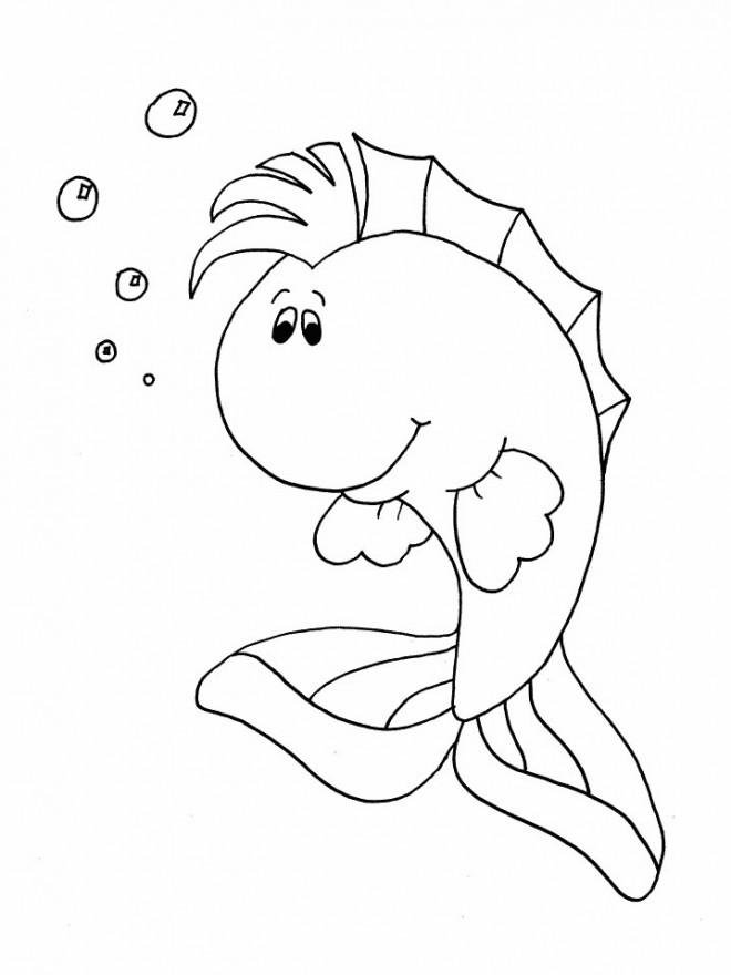 Coloriage et dessins gratuits Poisson dessin animé à imprimer