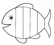 Coloriage et dessins gratuit Poisson en ligne à imprimer
