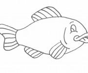 Coloriage et dessins gratuit Poisson en noir et blanc à imprimer