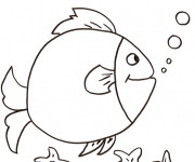 Coloriage et dessins gratuit Poisson humoristique à imprimer