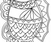 Coloriage Poisson mandala