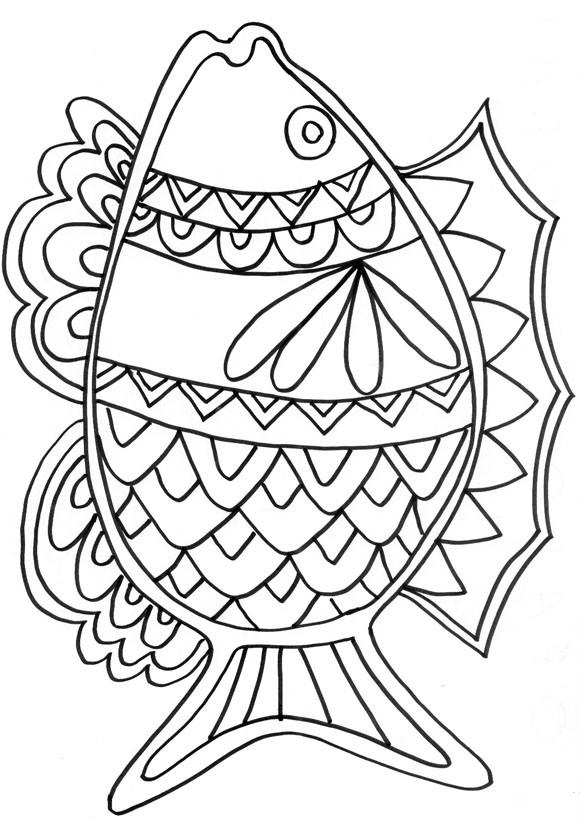 Coloriage poisson mandala dessin gratuit imprimer - Dessin de poisson facile ...