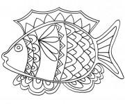 Coloriage et dessins gratuit Poisson mandala pour enfant à imprimer