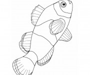 Coloriage et dessins gratuit Poisson maternelle à imprimer