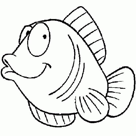 Coloriage poisson rigolo dessin gratuit imprimer - Poisson rouge rigolo ...