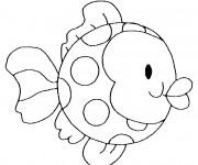 Coloriage et dessins gratuit Poisson stylisé à imprimer