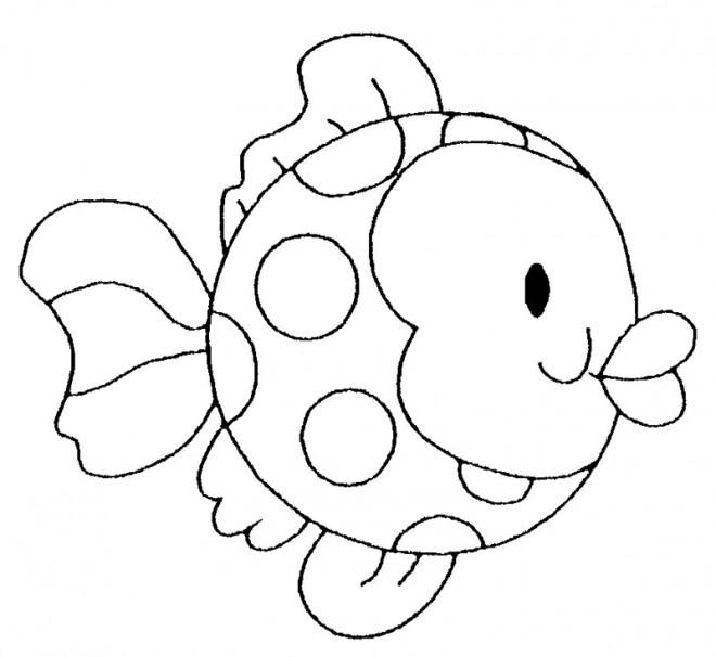 Coloriage et dessins gratuits Poisson stylisé à imprimer