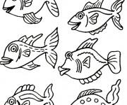 Coloriage et dessins gratuit Poissons exotique à imprimer