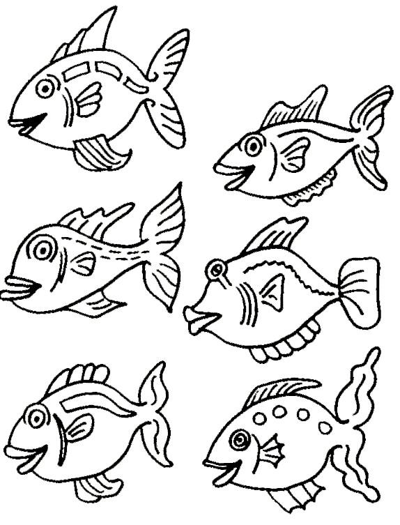 Coloriage et dessins gratuits Poissons exotique à imprimer