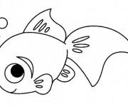 Coloriage et dessins gratuit Un petit Poisson à imprimer