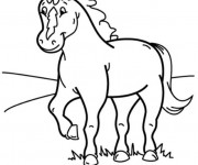 Coloriage Poney couleur
