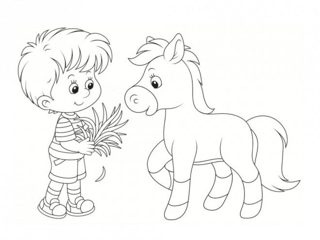 Coloriage Poney Et Enfant Dessin Gratuit 224 Imprimer