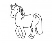 Coloriage Poney facile