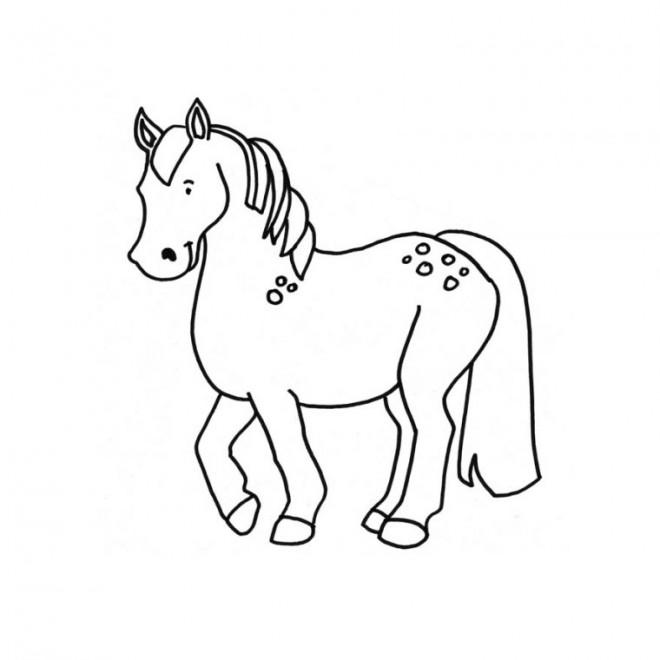 Coloriage poney facile dessin gratuit imprimer - Coloriage de chevaux a imprimer gratuit ...