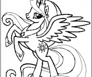 Coloriage Poney licorne