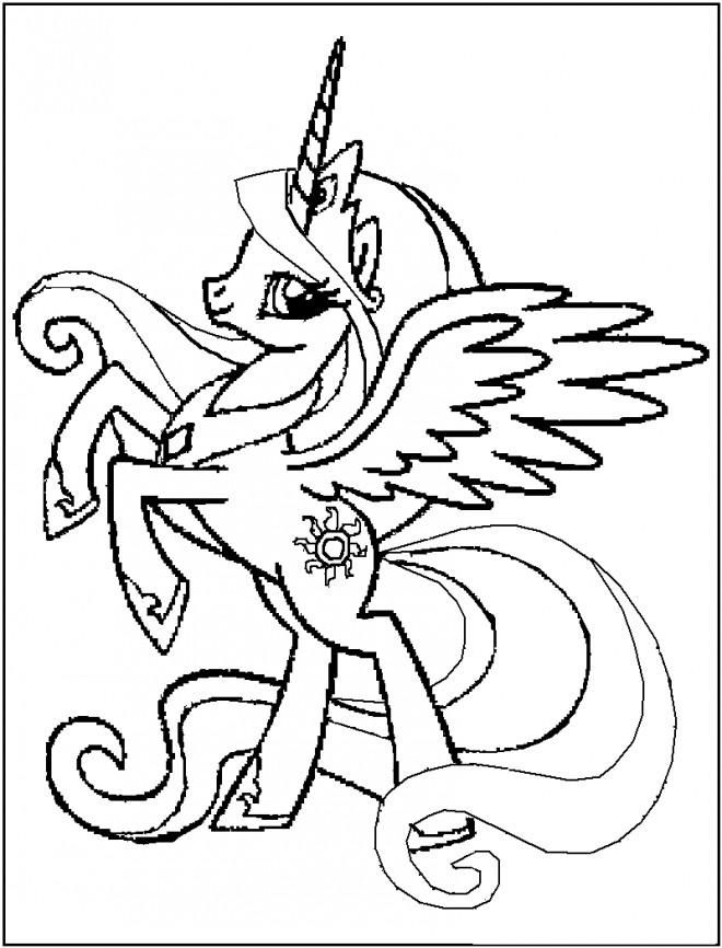 Coloriage et dessins gratuits Poney licorne à imprimer