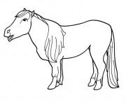 Coloriage et dessins gratuit Poney pour enfant à imprimer