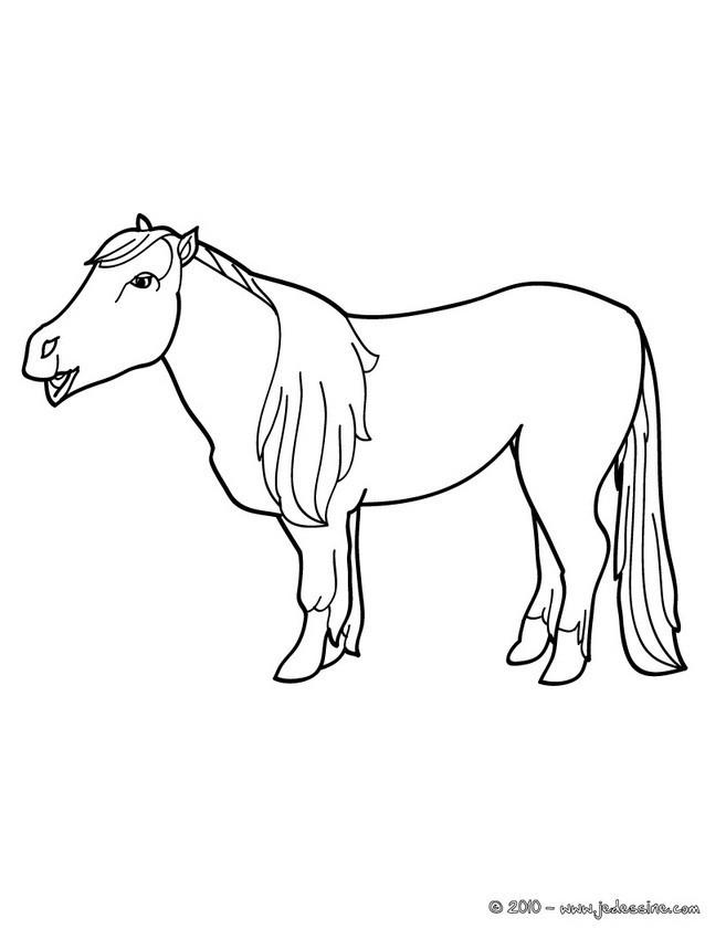 Coloriage et dessins gratuits Poney pour enfant à imprimer