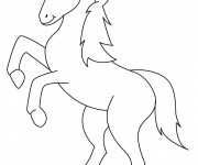 Coloriage Poney qui saute