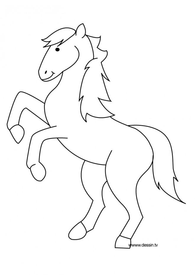 Coloriage poney qui saute dessin gratuit imprimer - Coloriage poney en ligne ...