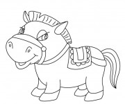 Coloriage Poney rigolo