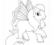 Coloriage Poney volant