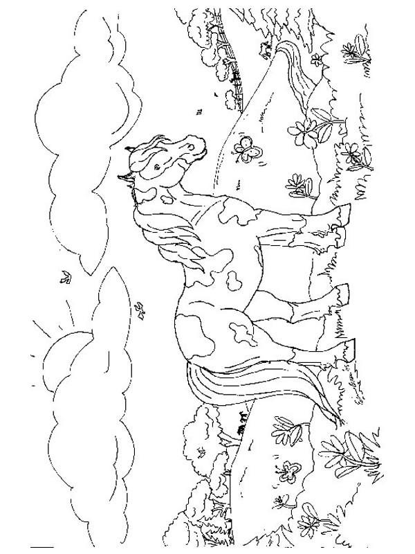 Coloriage un poney multicolore dessin gratuit imprimer - Coloriage poney en ligne ...