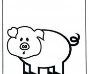Coloriage et dessins gratuit Cochon facile à imprimer