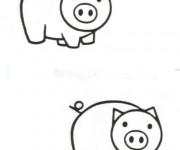 Coloriage et dessins gratuit Cochons identiques à imprimer