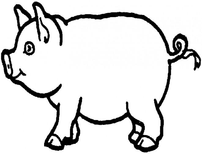 Coloriage et dessins gratuits Porc au crayon à imprimer