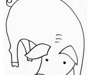 Coloriage et dessins gratuit Porc baissant la tête à imprimer