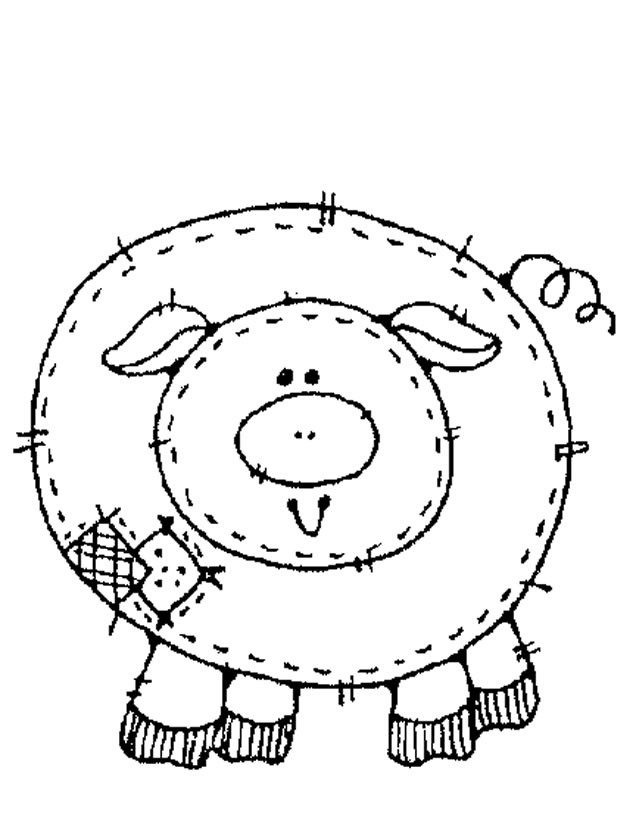 Coloriage et dessins gratuits Porc domestique à imprimer