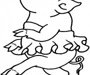 Coloriage et dessins gratuit Porc en dansant à imprimer