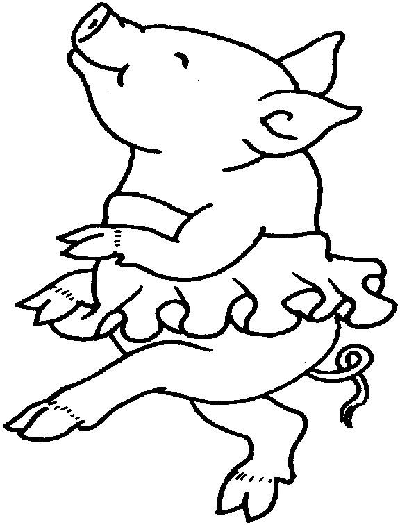 Coloriage et dessins gratuits Porc en dansant à imprimer