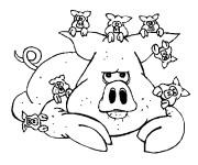 Coloriage et dessins gratuit Porc et ses petits à imprimer