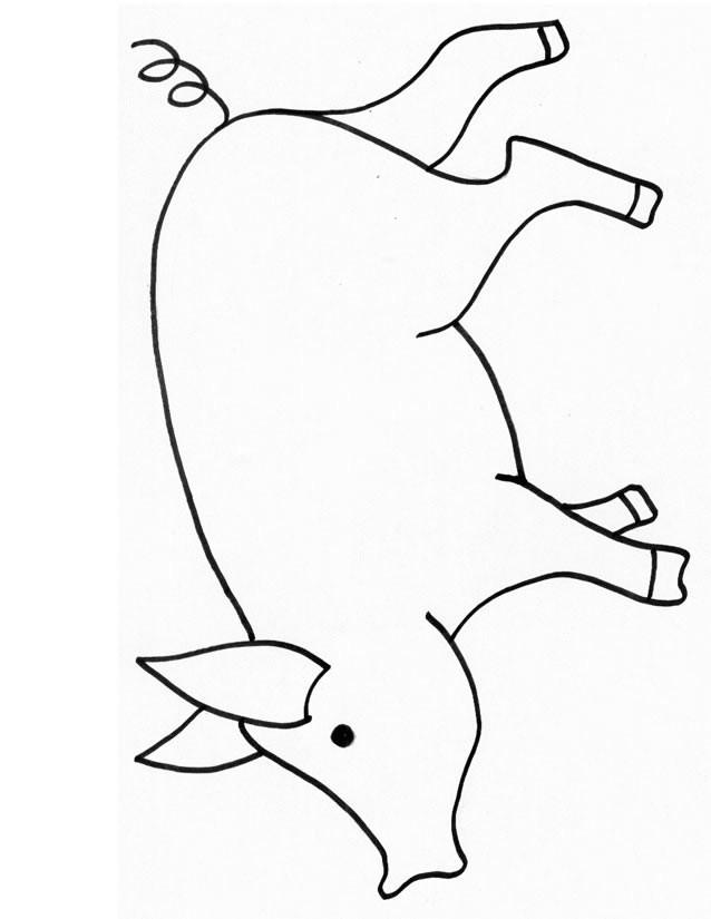 Coloriage et dessins gratuits Porc simple à imprimer