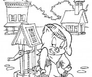 Coloriage et dessins gratuit Porcelet dans la ferme à imprimer