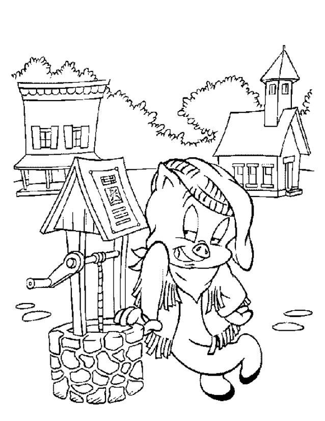 Coloriage et dessins gratuits Porcelet dans la ferme à imprimer