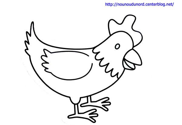 Coloriage et dessins gratuits Petit Poulet à imprimer