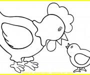 Coloriage et dessins gratuit Poule 13 à imprimer