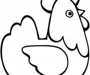 Coloriage et dessins gratuit Poule 20 à imprimer