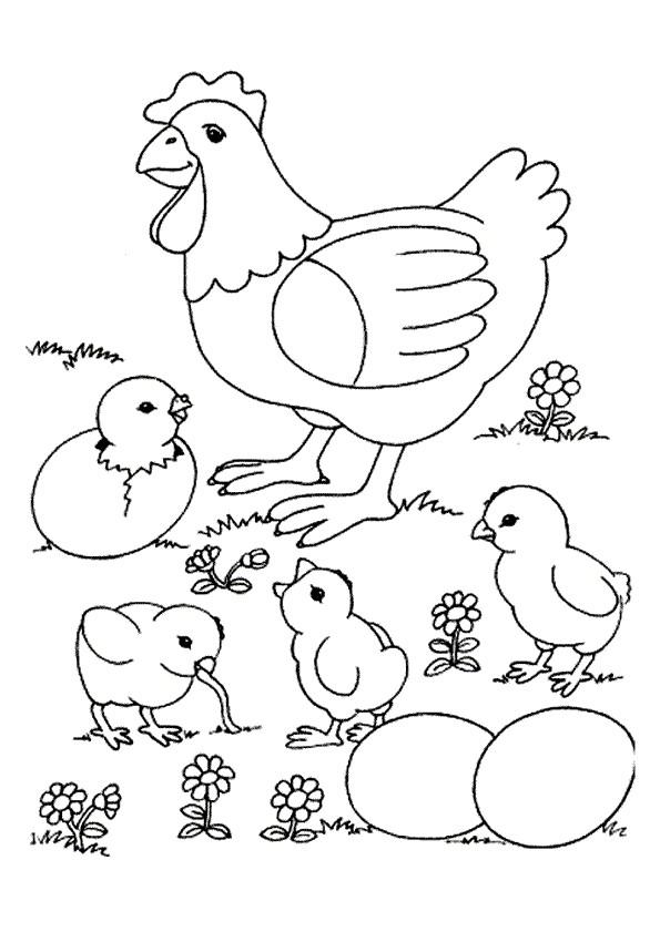 Coloriage et dessins gratuits Poule 28 à imprimer