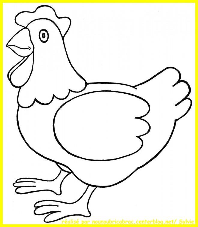 Coloriage et dessins gratuits Poule 3 à imprimer