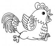 Coloriage Poule 30