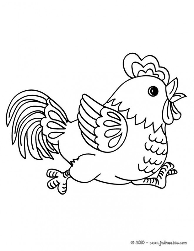 Coloriage et dessins gratuits Poule 30 à imprimer