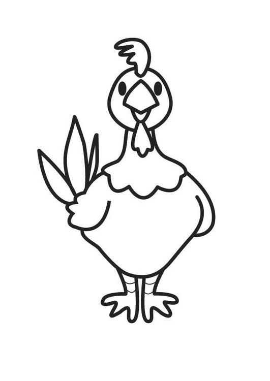 Coloriage et dessins gratuits Poule 31 à imprimer