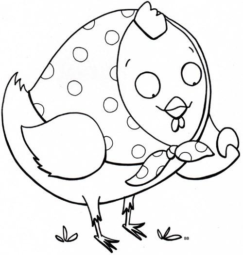Coloriage et dessins gratuits Poule 32 à imprimer