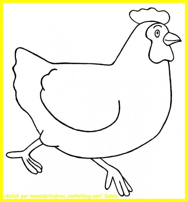 Coloriage et dessins gratuits Poule 4 à imprimer
