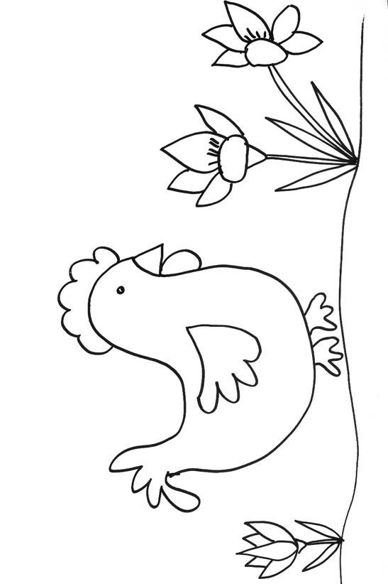 Coloriage et dessins gratuits Poule 40 à imprimer